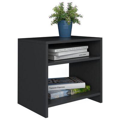 vidaXL Sängbord 2 st svart 40x30x40 cm spånskiva