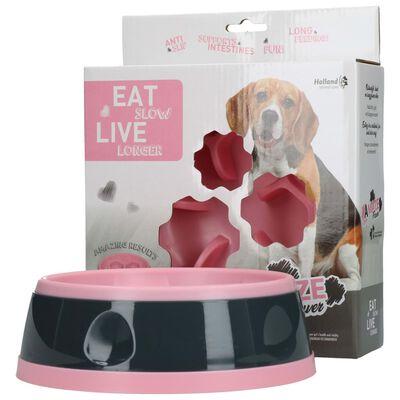 EAT SLOW LE LONGER Aktiveringsmatskål Amaze Flower rosa M