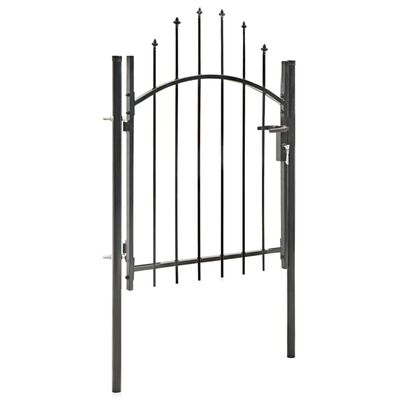 vidaXL Trädgårdsgrind stål 1x1,5 cm svart