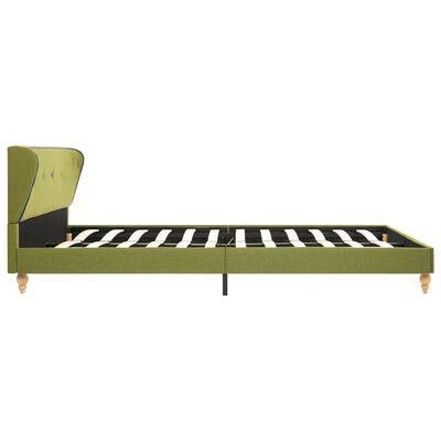 vidaXL Säng med memoryskummadrass grön tyg 140x200 cm
