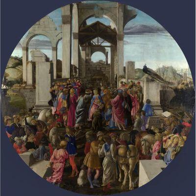 Adoration of the Magi,Sandro Botticelli,50x50cm