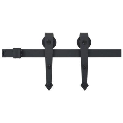 vidaXL Skjutdörrsbeslag 200 cm stål svart