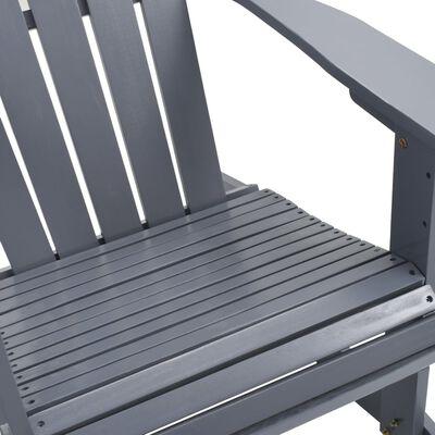 vidaXL Gungstol för trädgården trä grå