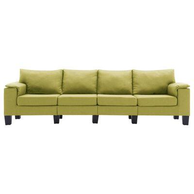 vidaXL 4-sitssoffa grön tyg