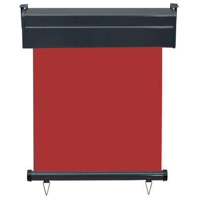 vidaXL Balkongmarkis 60x250 cm röd
