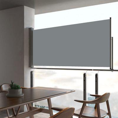 vidaXL Infällbar sidomarkis 60x300 cm grå