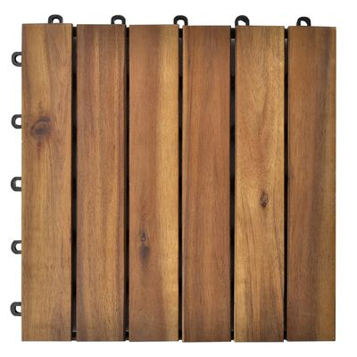 Balkongplattor med vertikal design 30 x 30, 30 st