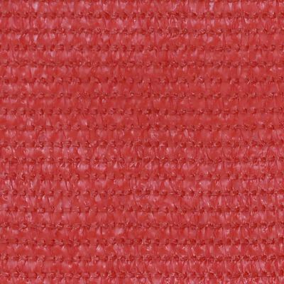 vidaXL Balkongskärm röd 120x300 cm HDPE