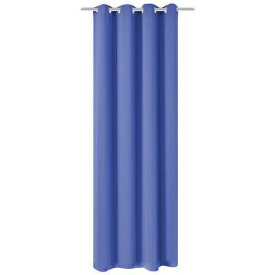 vidaXL Mörkläggningsgardin med öljetter 270x245 cm blå