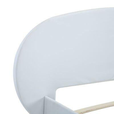 vidaXL Sängram vit konstläder 100x200 cm, White