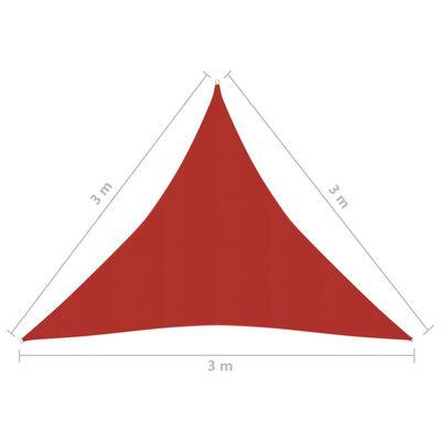 vidaXL Solsegel 160 g/m² röd 3x3x3 m HDPE