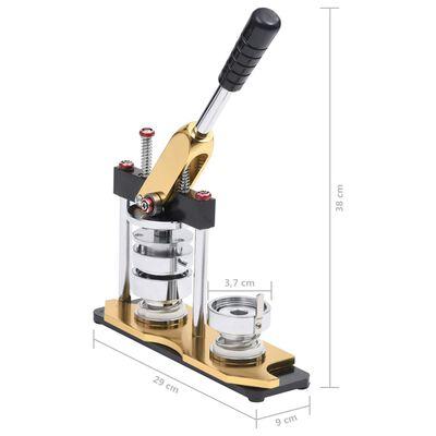 vidaXL Knappmaskin med cirkelskärare 37 mm roterande