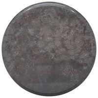 vidaXL Bordsskiva svart Ø40x2,5 cm marmor