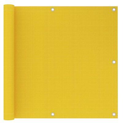 vidaXL Balkongskärm gul 90x300 cm HDPE