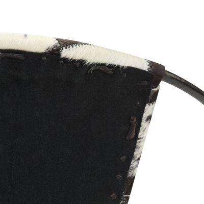 vidaXL Stol diamant svart äkta läder