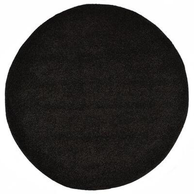 vidaXL Shaggy-matta 120 cm svart
