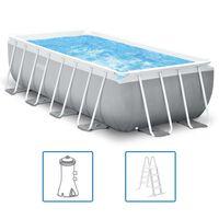 Intex Pool set Prism Frame rektangulär 400x200x100 cm