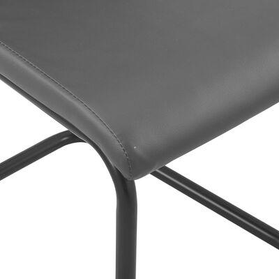 vidaXL Fribärande matstolar 6 st grå konstläder