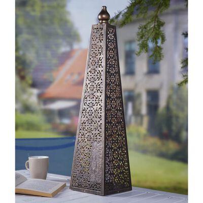 Luxform Lighting LED batteridriven Pyramid 60 cm koppar