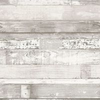 Homestyle Tapet Wood benvit och grå