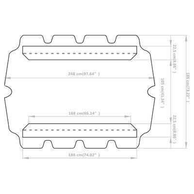 vidaXL Reservtak för hammock svart 188/168x110/145 cm
