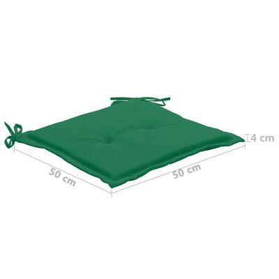 vidaXL Stolsdynor för trädgården 2 st grön 50x50x3 cm