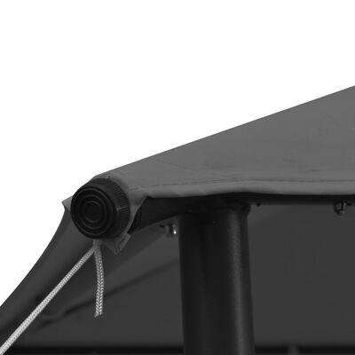 vidaXL Paviljong 3x3 m antracit tyg och stål 180 g/m²