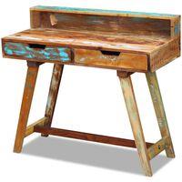 vidaXL Skrivbord i massivt återvunnet trä