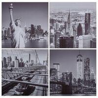 vidaXL Canvastavla New York flerfärgad 80x80 cm