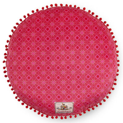 Happiness Dekorativ kudde WILD ROSE 55x55 cm röd
