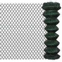 vidaXL Flätverksstängsel stål 1,25x15 m grön