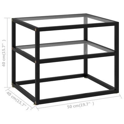 vidaXL Konsolbord transparent 50x40x40 cm härdat glas