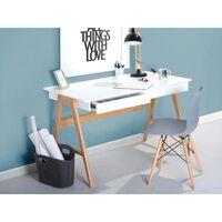 Skrivbord med 2 lådor vit SHESLAY