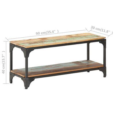 vidaXL Soffbord 90x30x40 cm massivt återvunnet trä