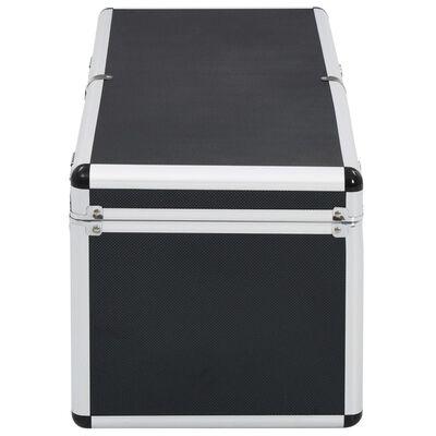 vidaXL Förvaringsväskor 2 st svart aluminium , Black