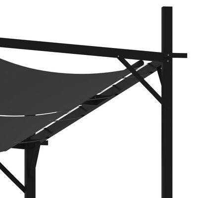 vidaXL Paviljong med infällbart tak 400x300x233 cm antracit