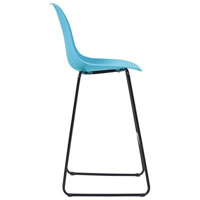 vidaXL Bargrupp 3 delar plast blå, Blue