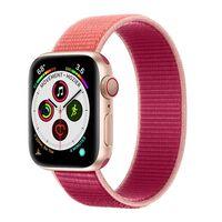 Apple Watch 5 (44mm) Nylon Armband - Pomegranate