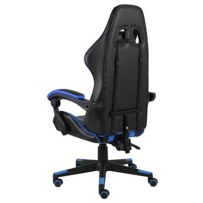 vidaXL Gamingstol svart och blå konstläder