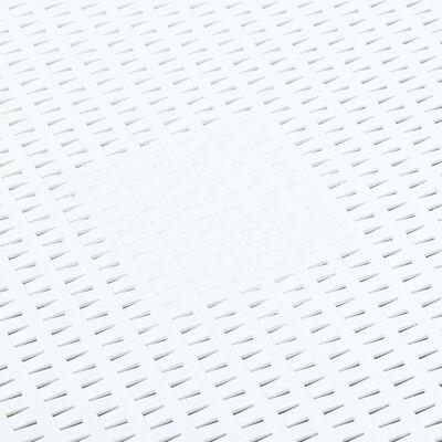 vidaXL Sidobord vit 54x54x36,5 cm plast