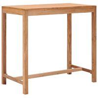 vidaXL Ståbord för utomhusbruk 110x60x105 cm massivt teakträ