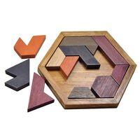 Geometriskt pussel av trä