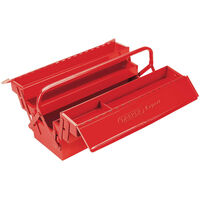 Draper Tools Utfällbar verktygslåda expert 53x20x21 cm röd