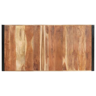vidaXL Matbord 200x100x75 cm massivt trä med sheshamfinish