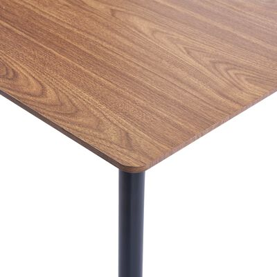 vidaXL Matbord brun 140x70x75 cm MDF