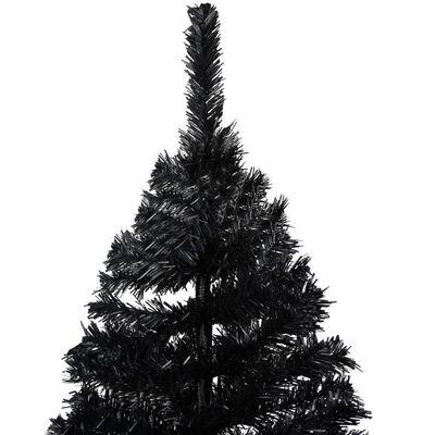 vidaXL Plastgran med fot svart 180 cm PVC, Svart