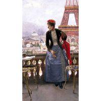 A Lady at the Paris Exposition,Luis jimenez aranda,80x40cm