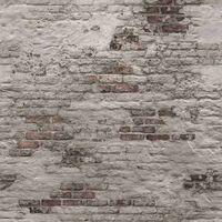 DUTCH WALLCOVERINGS Fototapet Old Brick Wall grå