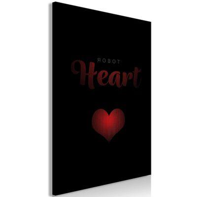 Tavla - Robot Heart (1 Part) Vertical - 80x120 Cm