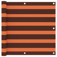 vidaXL Balkongskärm orange och brun 90x600 cm oxfordtyg